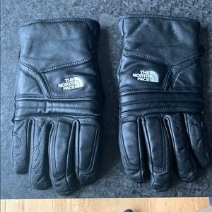 North Face Warm Leather Gloves